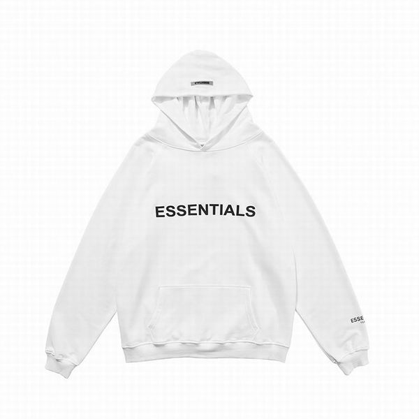 Fear Of God Front Logo Essentıals Hoodie White