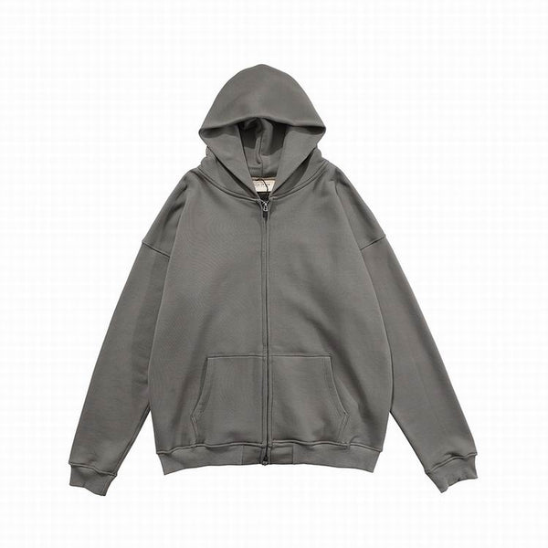 Fear Of God Essentıals Zipper Hoodie Gray