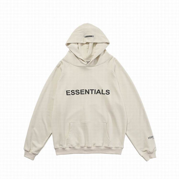 Fear Of God Front Logo Essentıals Hoodie Natural