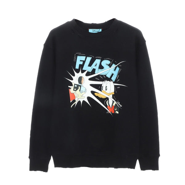 Disney x Gucci Donald Duck cotton sweatshirt Black 21FW