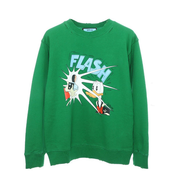 Disney x Gucci Donald Duck cotton sweatshirt Green 21FW