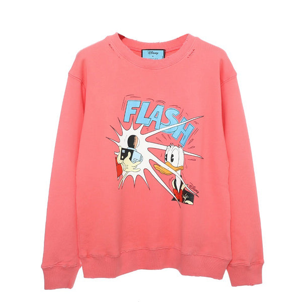 Disney x Gucci Donald Duck cotton sweatshirt Pink 21FW