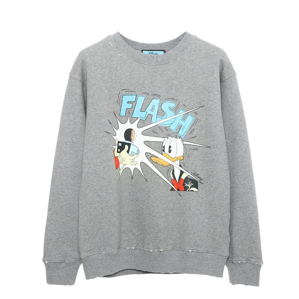 Disney x Gucci Donald Duck cotton sweatshirt Heather Gray 21FW