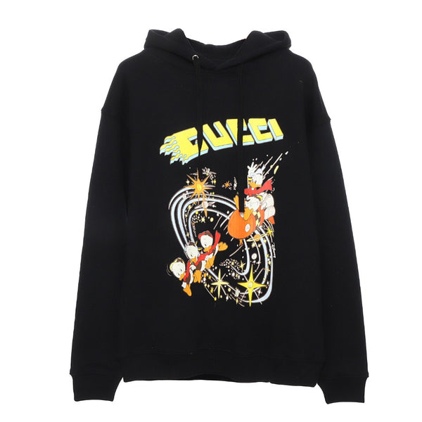 Disney x Gucci Donald Duck hooded sweatshirt Black 21FW