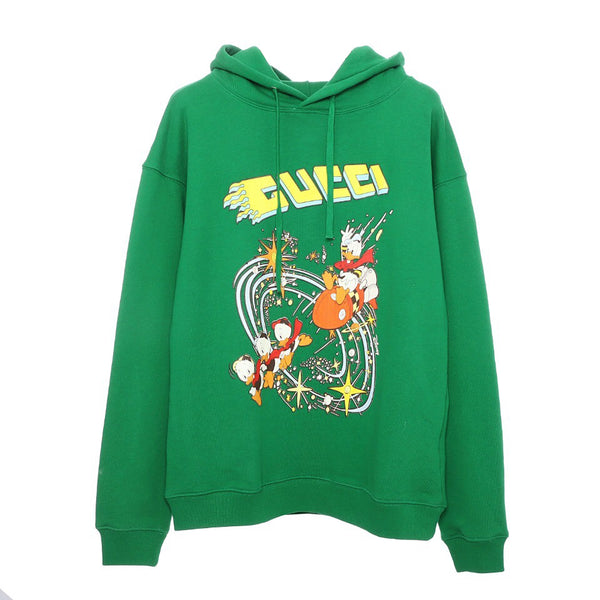 Disney x Gucci Donald Duck hooded sweatshirt Green 21FW