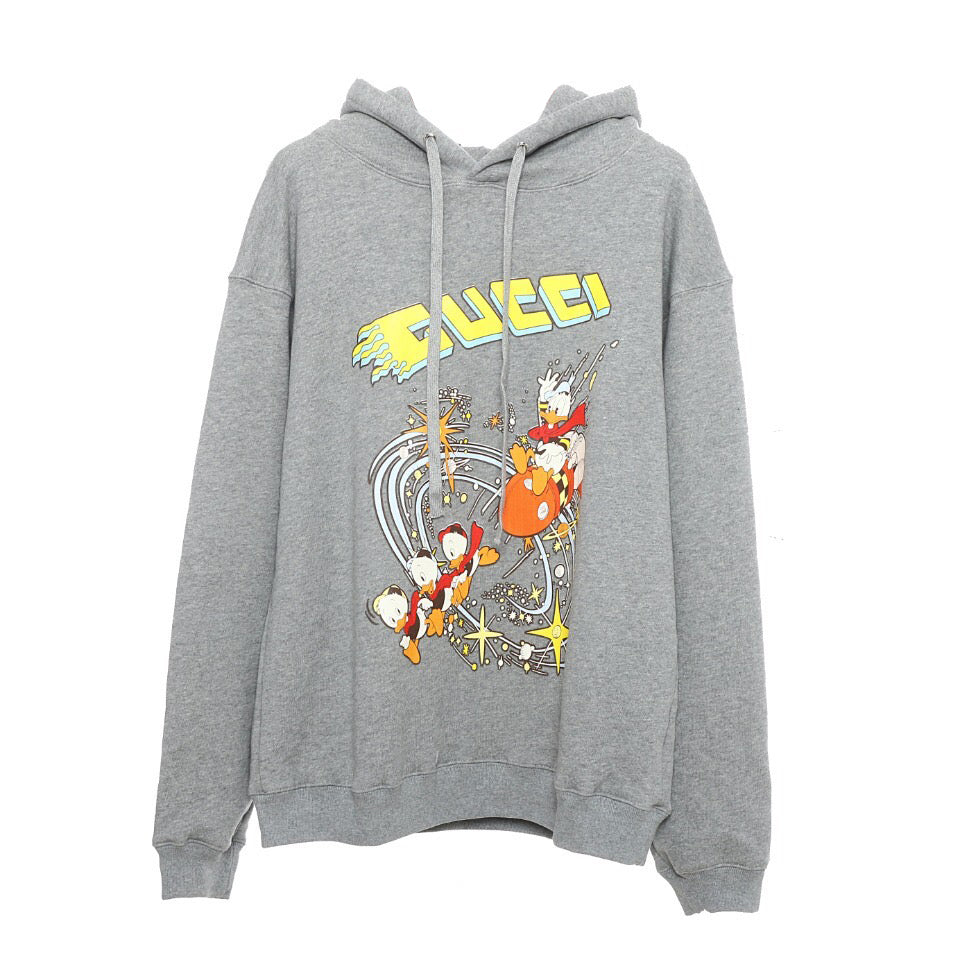 Disney x Gucci Hooded Sweatshirt Heather Gray 21FW