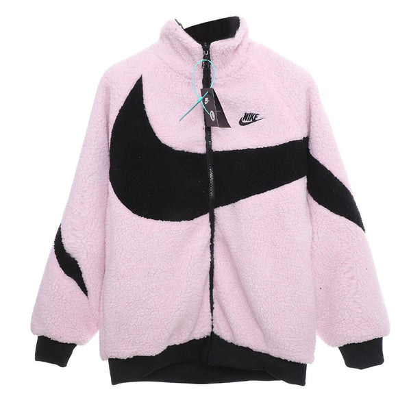 Nike BIG SWOOSH Double Sided Polar Jacket Pink/Black