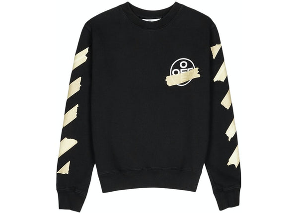 OFF-WHITE Tape Diag Arrows Sweatshirt Black