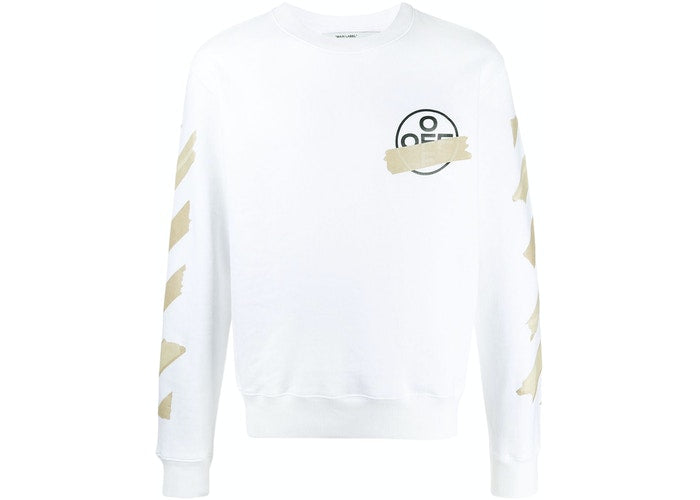 OFF-WHITE Tape Diag Arrows Sweatshirt White
