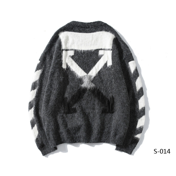 OFF-WHITE Heather Gray Sweater