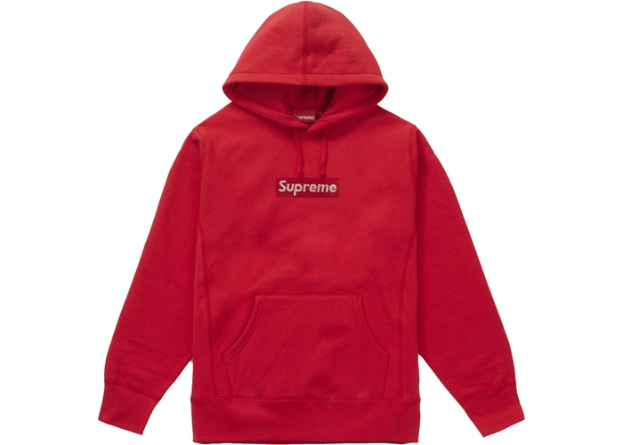 Supreme Svaroski Box logo Red