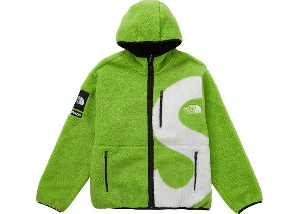 Supreme The North Face S Logo Fleece Jacket Lime