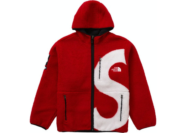 Supreme The North Face S Logo Fleece Jacket Red