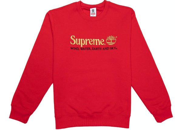 Supreme Timberland Crewneck Red