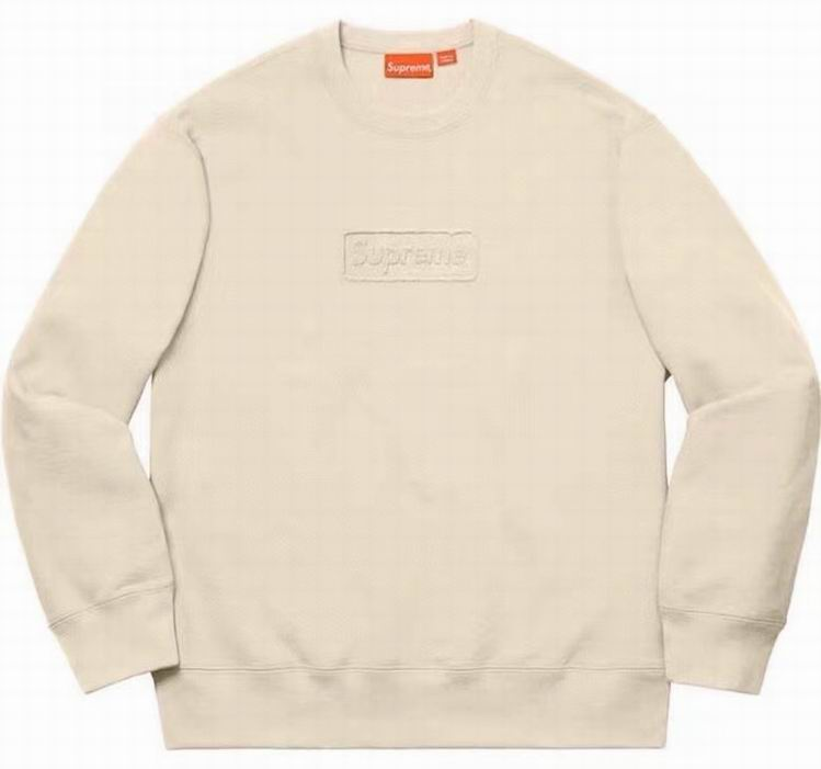Supreme Cutout Logo Crewneck Natural