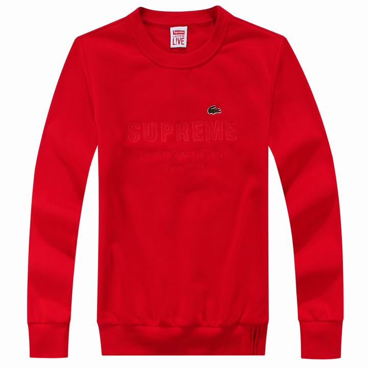 Supreme Crewneck Lacoste Red