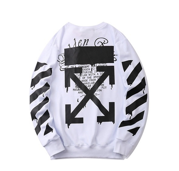 OFF-WHITE Dripping Arrows Incompiuto Sweatshirt White