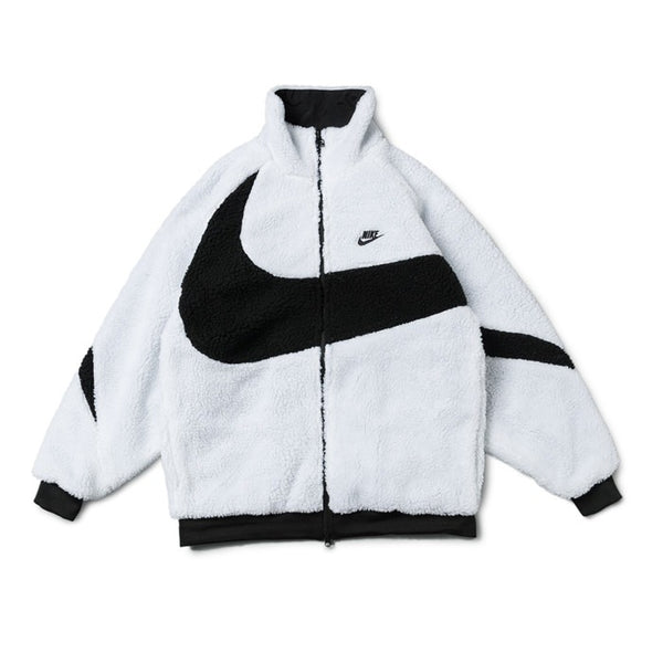 Nike BIG SWOOSH Double Sided Polar Jacket White