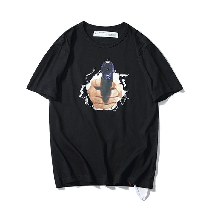 OFF-WHITE Gun Black Tee