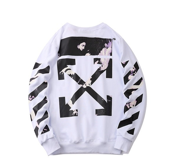 OFF-WHITE Caravaggio Arrows Over Sweatshirt White