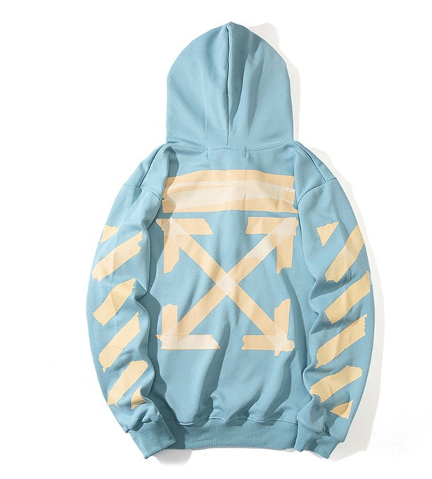OFF-WHITE Tape Diag Arrows Hoodie Blue