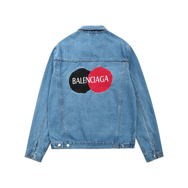 Balenciaga Uniform Logo Jacket -Denim
