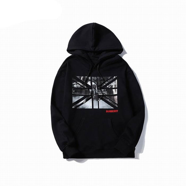 Burberry UK Flag Print Hoodie Black