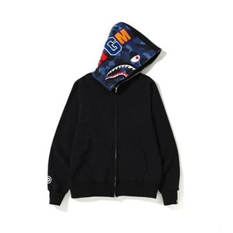 Bape Shark Zipper Black Color Hoodie