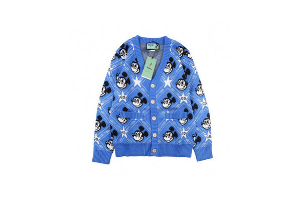 Gucci x Disney Mickey Wool Cardigan Blue