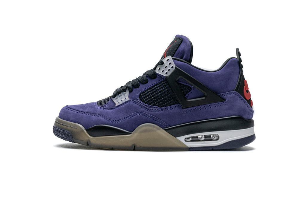 Travis Scott x Air Jordan 4 Retro 'Purple Suede - White Midsole (FRIENDS AND FAMILY)