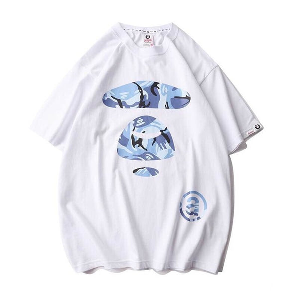 Aape White Blue Camo