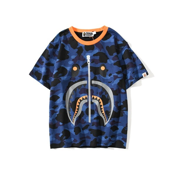 Bape Blue Camo zipper Tee