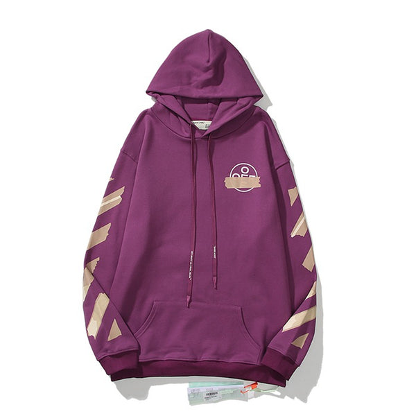 OFF-WHITE Tape Diag Arrows Hoodie Purple