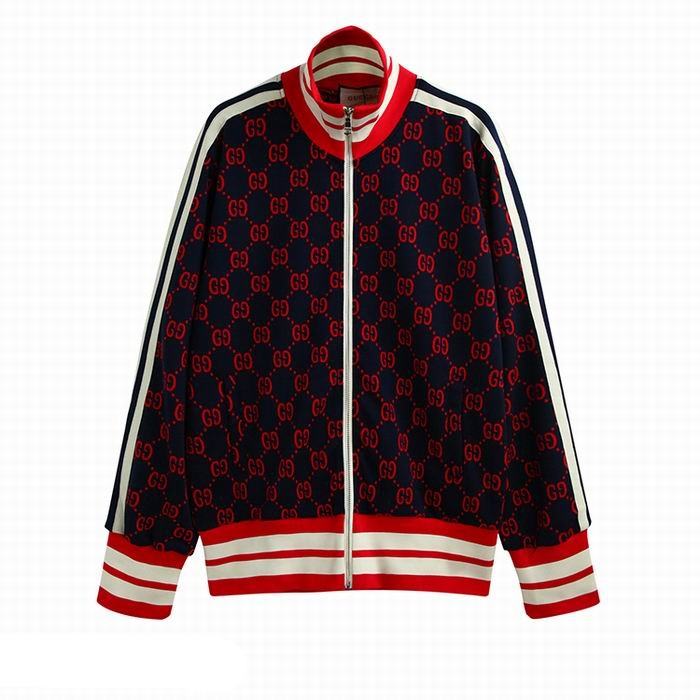 Gucci jacquard cotton jacket Blue/Red