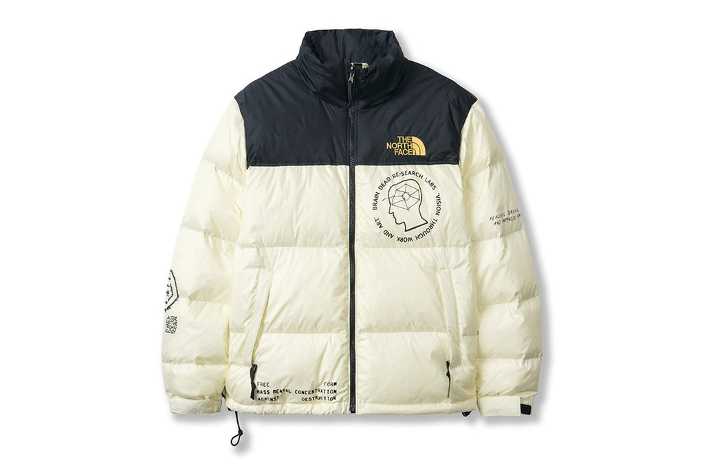 The North Face x Brain Dead Nuptse Jacket Cream