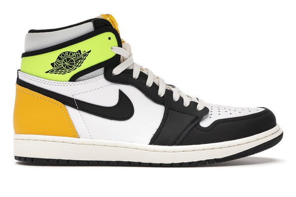 Air Jordan 1 Retro High White Black Volt University Gold