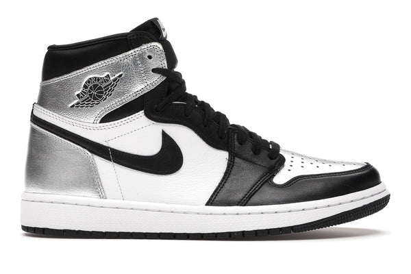 WMNS  Air Jordan 1 Retro High Silver Toe