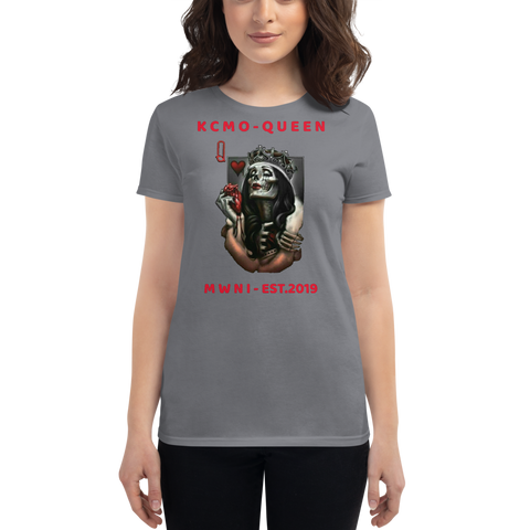 "MWNI EST.2019 ""KCMO-QUEEN"" Women's short sleeve t-shirt"