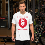 "Midwest-Newimage Clothing Brand ""KCMO KING"" "" PARENTAL WARNING KCMO"" Short-Sleeve Unisex T-Shirt"