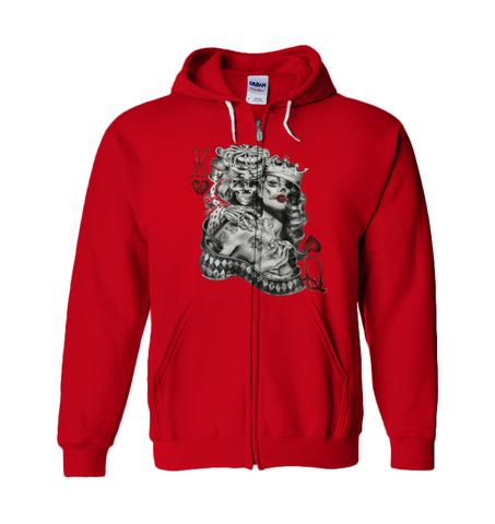 King & Queen of hearts Hoodie
