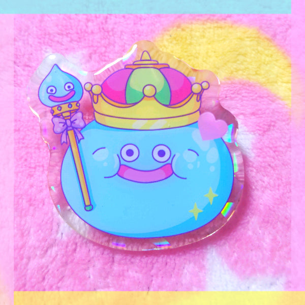 Dragon Quest Acrylic Pin: King Slime
