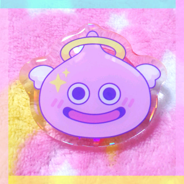 Dragon Quest Acrylic Pin: Angel Slime