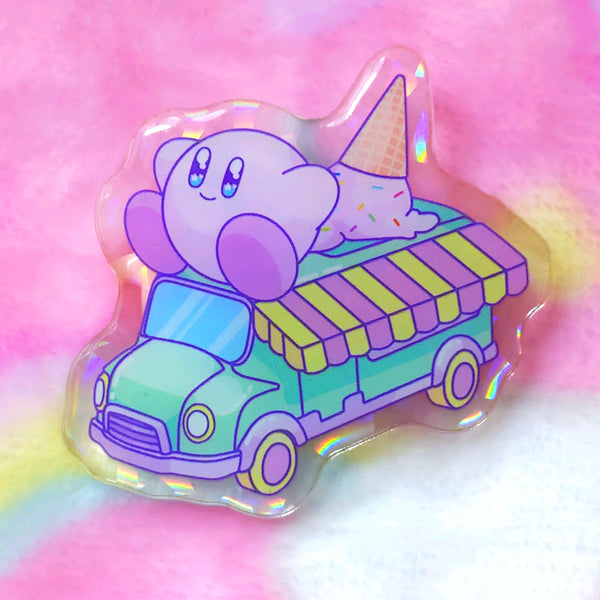 Kirby: Icecream Acrylic Pin