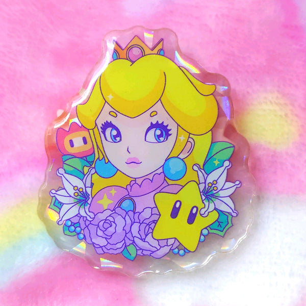 Princess Peach Acrylic Pin