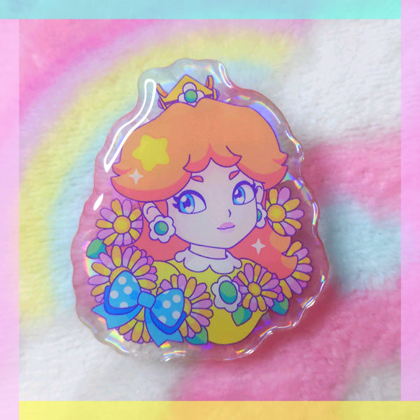 Princess Daisy Acrylic Pin