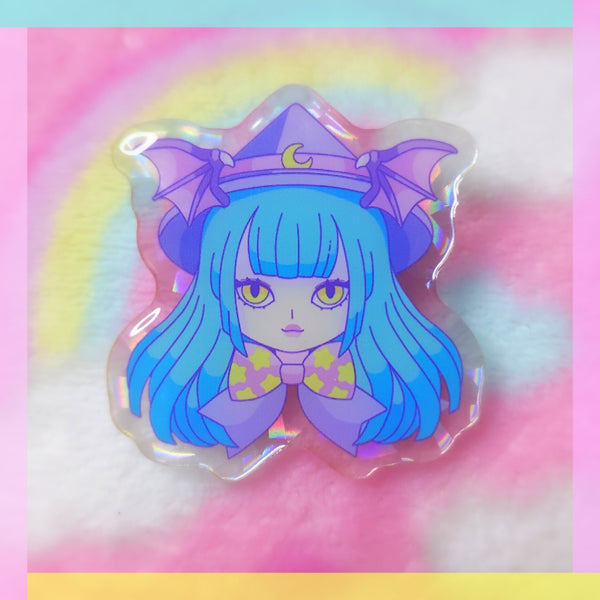 Darkstalkers: Witch Morrigan Acrylic Pin