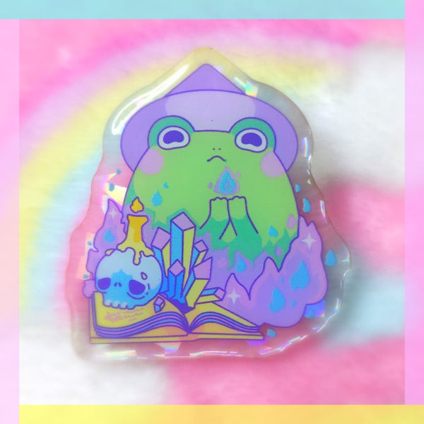 Froggy Wizards: Dark Wizard Acrylic Pin