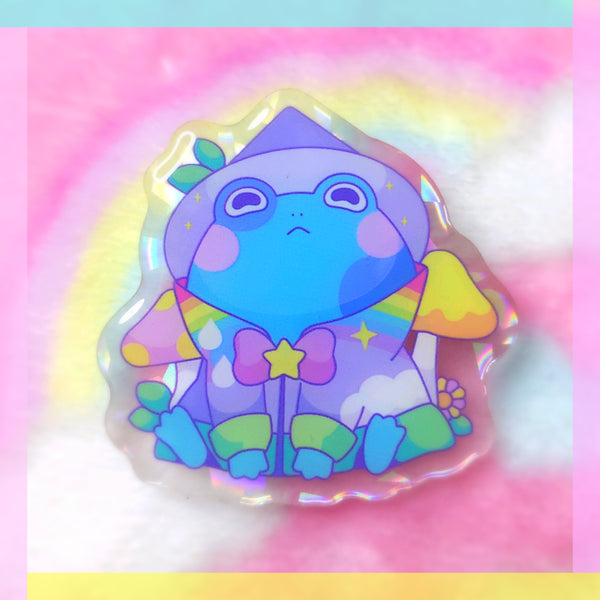 Froggy Wizards: Rain Wizard Acrylic Pin