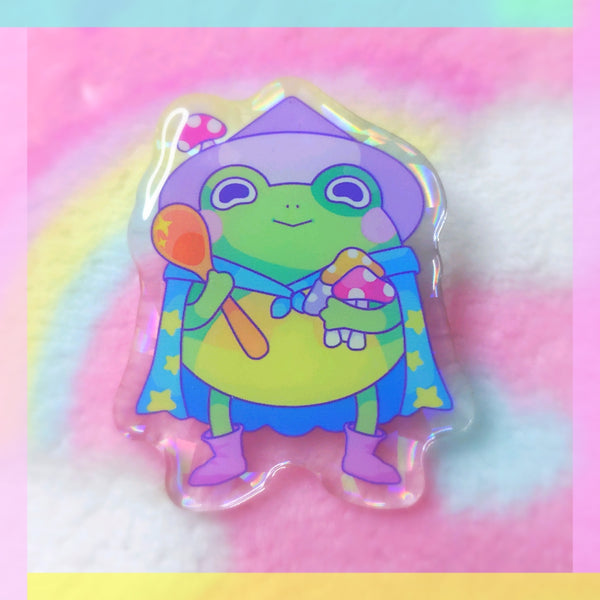 Froggy Wizards: Chef Wizard Acrylic Pin
