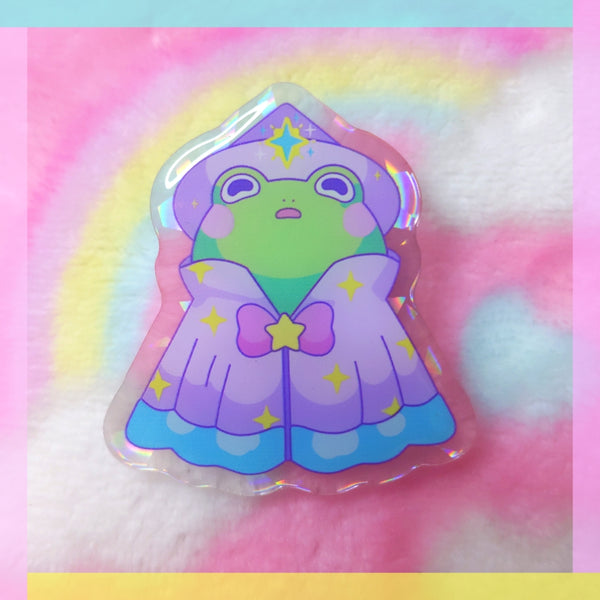 Froggy Wizards: Star Wizard Acrylic Pin